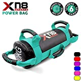 Xn8 Sports Power Bag Filled Weight Lifting Body Fitness Gym Boxing MMA Training Handles Crossfit Workout Sandbag (Turquoise, 10KG)