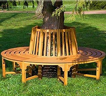 Directachat56 Banc De Jardin En Bois Exotique Tour Darbre 190 Cm