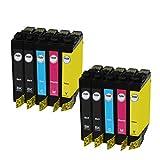 10 Pack Remanufactured Ink Cartridges High Yield Compatible Use for XP-100 XP-400 XP-300 XP-310 XP-200 WF-2540 WF-2530 WF-2520 Printer (4x Black, 2x Cyan, 2x Magenta, 2x Yellow)