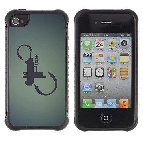 Apple Iphone 4 / 4S - Shotgun Pistol Revolver Art Infinity Quote
