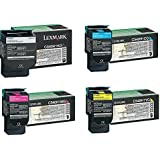 Lexmark Part# C540H1KG. C540H1CG. C540H1MG. C540H1YG Toner Cartridge Set (OEM)