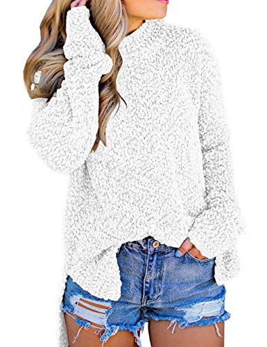Chenghe Womens Long Sleeve Knit Sweater Top Casual Crewneck Loose Pullover Jumper