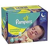 Pampers Pañales Overnight, Unisex, Talla 4, 58 Piezas