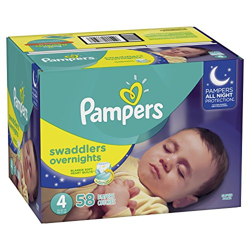 Large Product Image of Pampers Swaddlers Overnights Disposable Baby Diapers Size 4, 58 Count, SUPER
