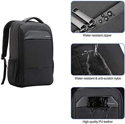kopack Laptop Backpack Slim Computer Travel Bag Anti Theft Water Resistant 15.6 Inch Black KP492