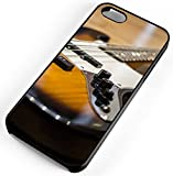 iPhone Case Fits iPhone 8 Electric Bass Guitar Music Concert Band Black Rubber