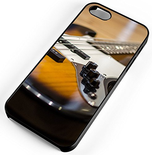 iPhone Case Fits iPhone 8 Electric Bass Guitar Music Concert Band Black Rubber by TYD Designs
