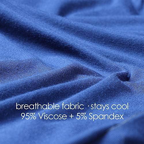 Andrew Scott Mens 6 Pack 100/% Cotton Jersey Knit Yoga Lounge /& Sleep Pajama Pants