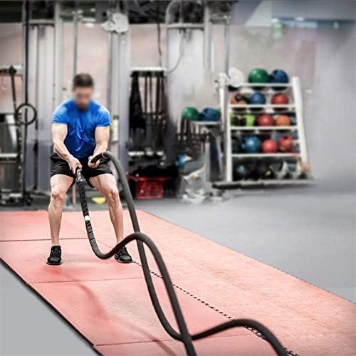 Chencheng フィジカルトレーニングローププロの戦いロープクライミング強度ロープ スポーツアウトドア (Size : 12mX50mm)