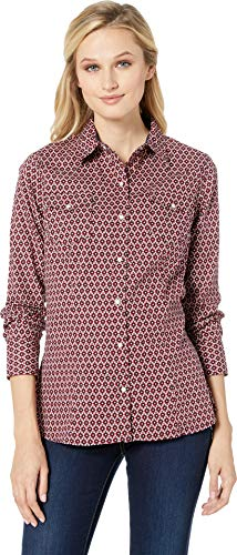 (Roper Women's 2175 Old Crow Geo Red Large)