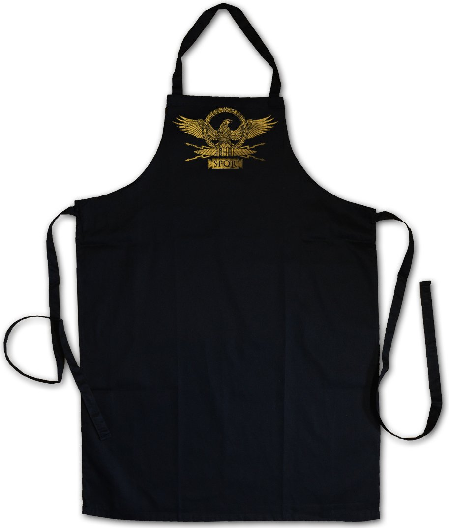 Urban Backwoods ROMAN EAGLE BARBECUE BBQ COOKING KITCHEN GRILLING APRON – Romain aigle Roma Rome Rom Kaiser Ceasar Map Imperator Empire Stretch Emperor SPQR