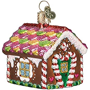 Old World Christmas Collection Glass Blown Ornaments for Christmas Tree, Gingerbread House