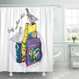 Best Camera For Bird Photographies - Semtomn Decorative Shower Curtain Photography Bright Vintage Camera Review