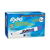 EXPO Low-Odor Dry Erase Markers, Chisel Tip, Purple, 12-Count
