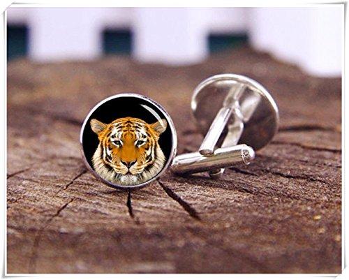 Magical magnet Tiger Cufflinks, Tiger Head Cuff Links, Wild Animal, Wedding Cufflinks, Personalized Cufflinks