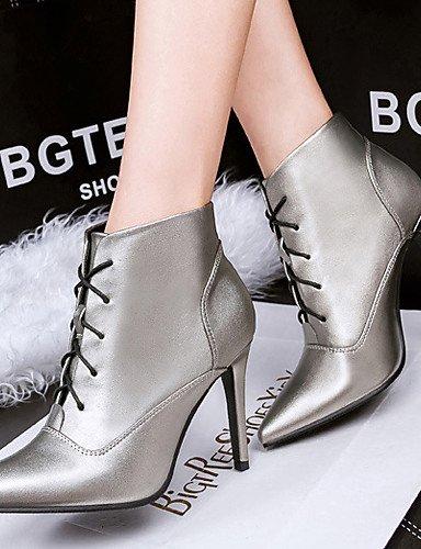 XZZ  Damenschuhe - Stiefel - Outddor   - Lässig - Samt -  Stöckelabsatz - Modische Stiefel - Schwarz   Silber eb3c7e