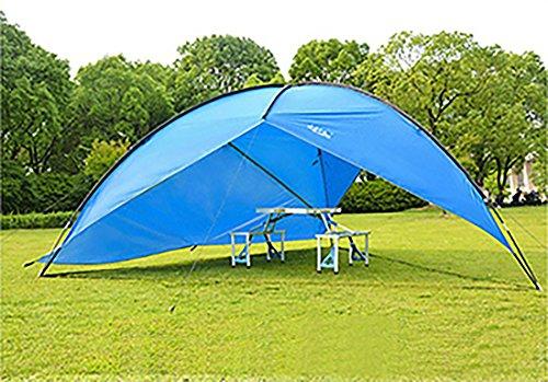 Shoptourismkit Sun Shelter UV With Poles Waterproof Awning Canopy Beach Tent Beach Shade Tarp Pergola Camping Picnic Pergola Sunshade Gazebo (Blue One Windproof) Fiberglass Pergola