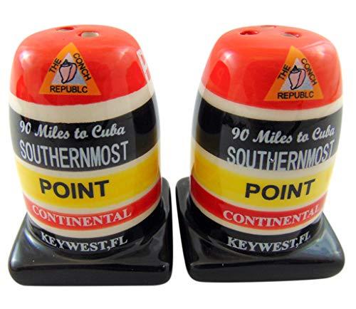 Souvenir Salt Pepper - Southernmost Point Salt and Pepper Shaker Set Florida Keys Souvenir Gift Boxed
