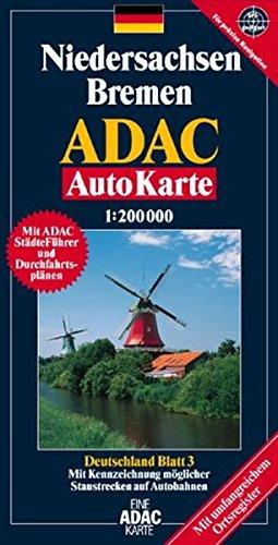 Niedersachsen /Bremen: 1:200000; GPS-geeinget (ADAC AutoKarten Deutschland 1:200 000) Landkarte – Folded Map, 1. November 2004 MAIRDUMONT 3826412842 MAK_GD_9783826412844 Stadtpläne