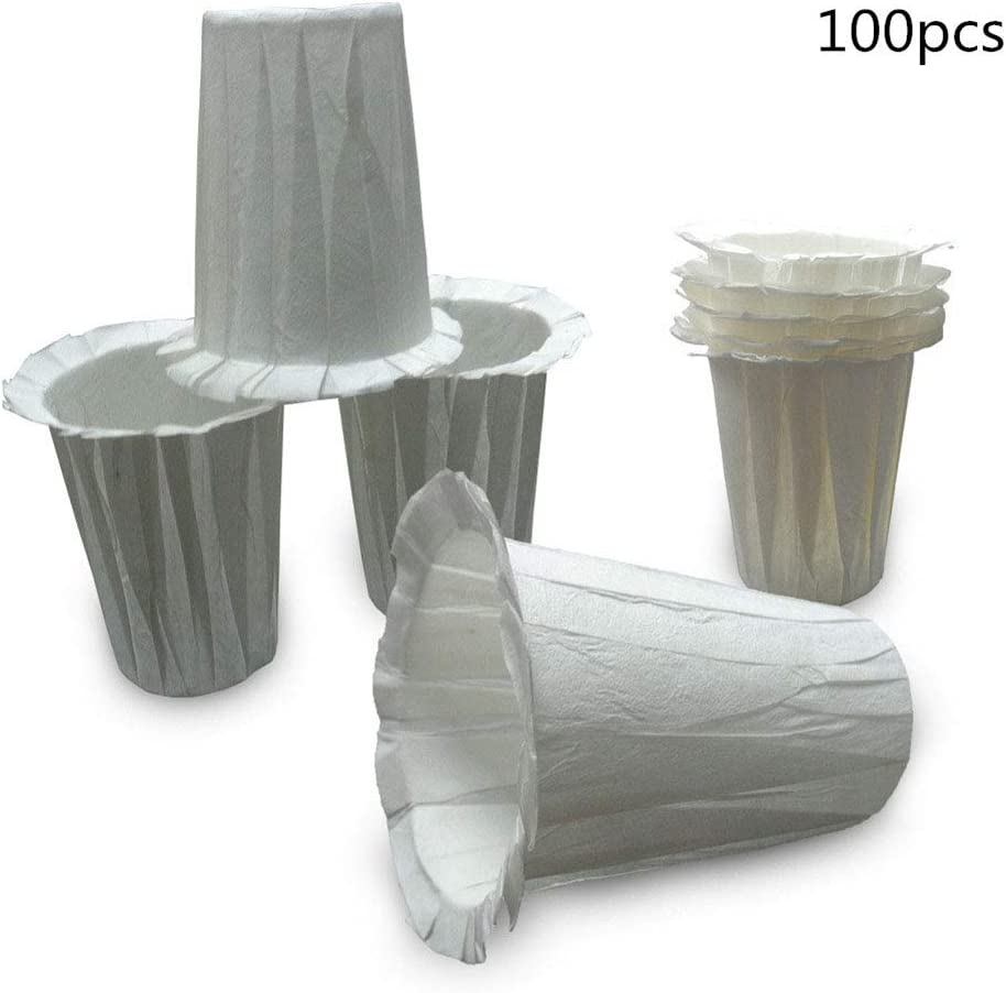 BeesClover 100pcs Paper Filters Cups for Keurig Carafe Coffee Filter Stunning Paper