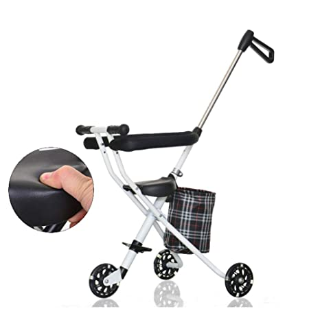 Cochecitos de tres ruedas Carro de bebé,Portátil plegable Pedal del cochecito de bebé 1
