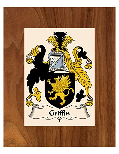 (Carpe Diem Designs Griffin Coat of Arms/Griffin Family Crest 8X10 Photo Plaque, Personalized Gift, Wedding Gift)