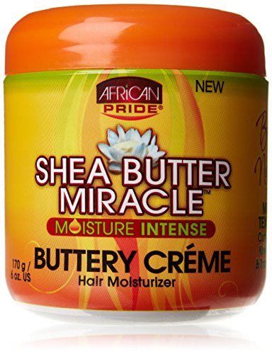African Pride Shea Butter Miracle Buttery Creme 6oz Jar (6 ()