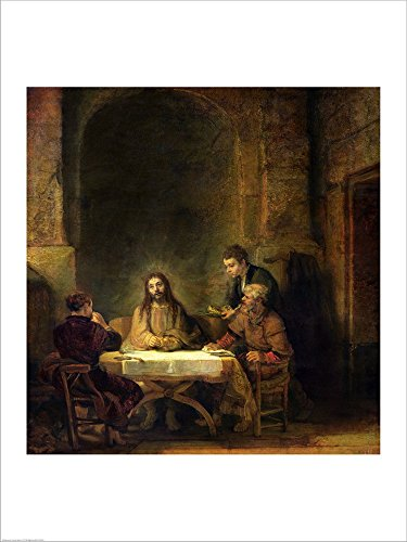 Supper Emmaus Rembrandt Laminated Art product image