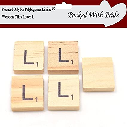 a02d7356248b PACK OF 20 LETTER L - WOODEN SCRABBLE TILES WITH BLACK LETTERS - THESE  TILES ARE
