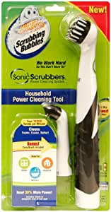 SonicScrubbers HT Scrubbing Bubbles Power Household Cleaning Tool and Brushes