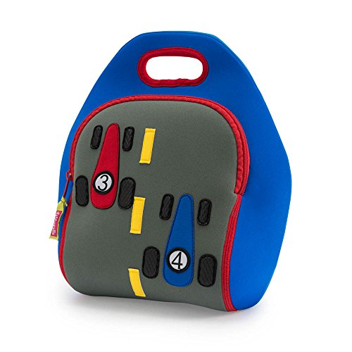 Dabbawalla Bags Fast Track Insulated and Machine Washable Race Car Lunch Bag for Kids