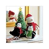 Hallmark 2006 Very Merry Trio Techno Plush Snowman with Penguins