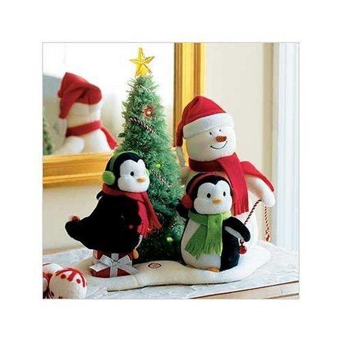 Hallmark 2006 Very Merry Trio Techno Plush Snowman with Penguins by Hallmark