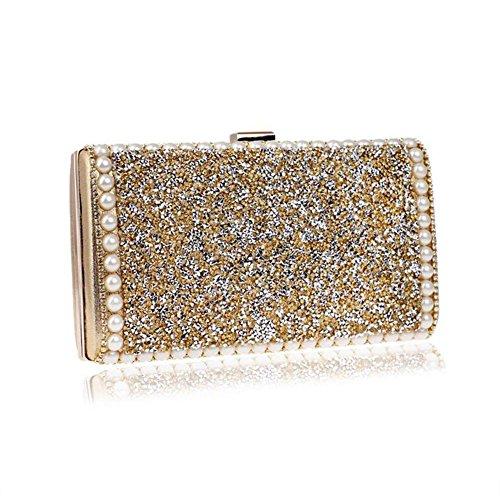 Evening Femmes Gold Lgsvb Pochette Mariage Diamond Petit Party Sparkly Bridal vBqEwqx4a