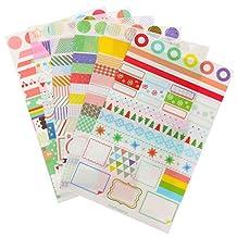 GogoForward 6 sheets/set Cute Simple Life Calendar Paper Sticker Scrapbook Calendar Diary Planner Decor with Free Gift Logo Keychain