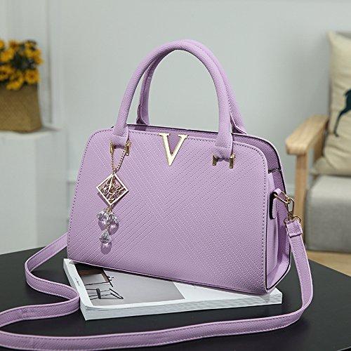 XWAN Violet Messenger Bolso Hombro V Bolso verde moda hombro de nueva ArA1Cqv