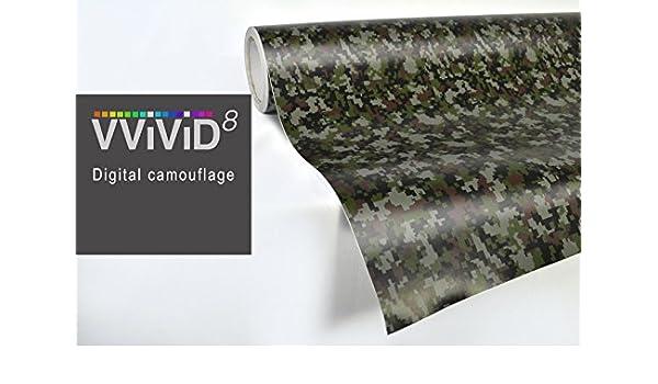 Digital camouflage 3MIL car boat vinyl wrap 15ft x 5ft stretch VVIVID8 sticker