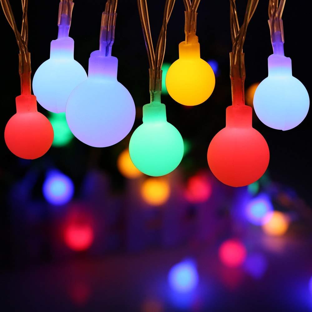 LED Lichterkette, ECOWHO 40 LEDs Lichterkette innen mit Batteriebetrieben IP 65 Wasserdicht 8 Bleuchtungsmodi Memory Funktion 50000 Stunden Lebensdauer für Zimmer Garten Weihnachten (Warmweiß) [Energieklasse A+++]
