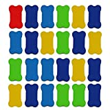 RETON 24 Pcs Whiteboard Eraser Small Magnetic Whiteboard Dry Erasers, Great for Home, School and Office - 2.8 x 1.6 inches Each