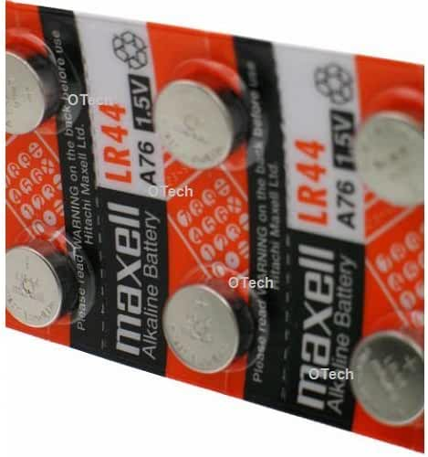 Maxell LR44 (A76) Batteries, 10 Count
