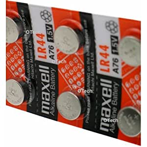 Amazon.com: Maxell LR44 (A76) Batteries, 10 Count: Health & Personal Care