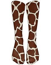 Womens Giraffe Printed Sock Over Knee High Boots Girls Long Socks
