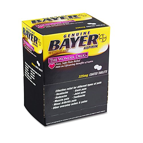 Bayer BXBG50 Aspirin Tablets, Two-Pack (Box of 50) ()
