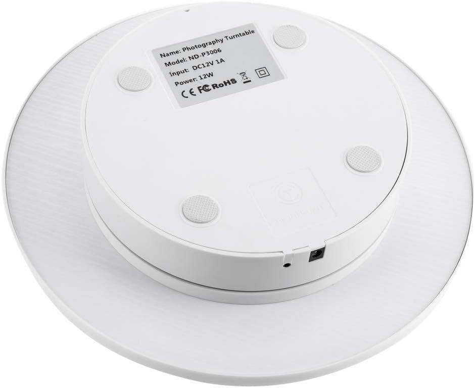 PrimeMatik Plataforma giratoria con Bluetooth de 30cm de di/ámetro en Color Blanco