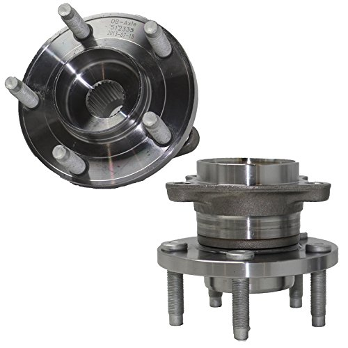 Detroit Axle - Pair REAR AWD Wheel Bearing & Hub Assembly Driver & Passenger Side fits AWD Only - 2007-2010 Ford Edge AWD - [2007-2010 Lincoln MKX AWD]