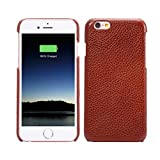 iPhone 6S Case Leather - LITOYA 6S Slim Leather Protective Cover Soft Shockproof for Apple iPhone 6S 6 - Brown