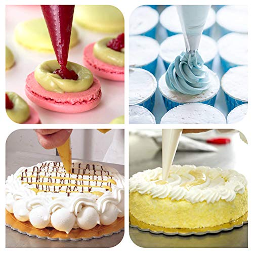 """Meao 100 Pcs Large Thickened 22"""" Inch Disposable Cream Pastry Bags Icing Piping Bags Decorating Bags for Cake Cupcakes Frosting #3"""