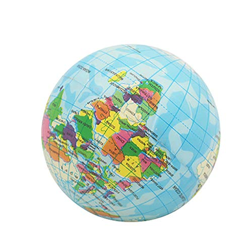 welcomeuni 1340 World Map Foam Ball Atlas Globe Palm Ball Planet Earth Ball 93mm Education Puzzle Toy Squishy Toy