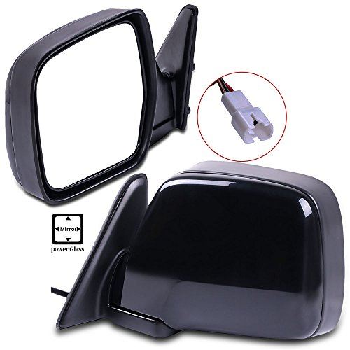 (Towing Mirrors ECCPP High Performance Black Pair Mirrors Replacement Set Mirrors with Power Adjusted Manual Folding Replacement fit for 1996-1998 Lexus LX450 1990-1997 Toyota Land Cruiser )
