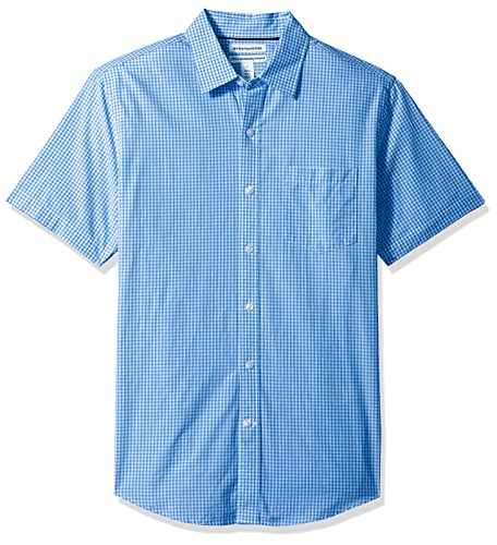 Amazon Essentials Men's Slim-Fit Short-Sleeve Casual Poplin